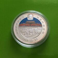 Pièce en argent 10 dollars Libéria 1997 Retour Hong Kong à Chine