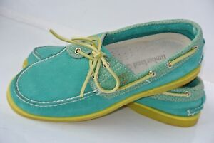NEW Timberland Mens Sz 7 M Green Leather Oxford Deck Shoes