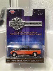 MotorMax 1:64 2004 FORD Harley Davidson F-350 Supercrew Black / Orange