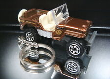 Brown 1943 Jeep Willys Diecast Key Chain Ring