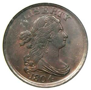 1804 Draped Bust Half Cent 1/2C - Certified NGC MS61 (BU UNC) - $1,500 Value!