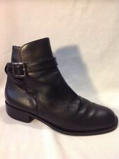 Jones Black Ankle Leather Boots Size 37