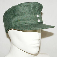 WWII WW2 GERMAN WH EM M43 PANZER WOOL FIELD CAP GREEN SIZE XL