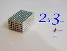 100 MAGNETI NEODIMIO 2x3 mm STRONG  MAGNETE CALAMITE CERAMICA FIMO CERNIT