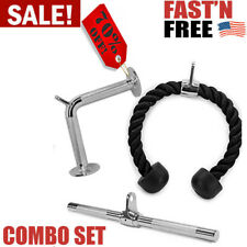 Yes4All Combo Tricep Rope V-Shaped Bar & Revolving / Rotating Straight Home Gym