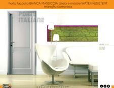 Porta laccata BIANCA MASSICCIA telaio e mostre WATER RESISTENT maniglia compresa