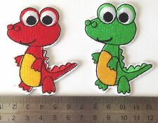 embroidered iron on sew on kids dinosaur animal applique patches badges iron on