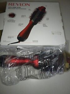 REVLON One-Step Red Hair Dryer and Volumizer Hot Air Brush, Red Volumizer