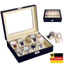 10 Uhrenbox Uhrenkoffer Uhr Aufbewahrungsbox Uhrenkasten Uhrenschatulle Top NEU