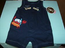 Cabana Sunsuit Navy Blue With Crab With Swimming Goggles Size 0 to 3 Months