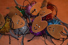 TINSEL MICE WITH LEATHER HEADS AND TAILS ASST COLORS  CAT TOYS