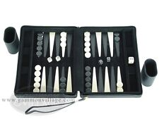PORTFOLIO Gammon Black - TRAVEL Backgammon Set - Magnetic Board