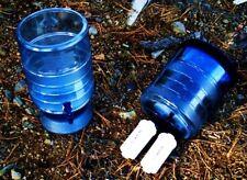 Berkey Light Water Filter w 2 Black + 2 PF2 Filters + Berkey Bottle + H/C Bottle