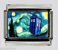 Dr Who Starry Night Van Gogh 9mm Italian photo Charms for modular link bracelets