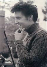 Elvis Presley With Great Smile, Nice Hair Cut, King of Rock & Roll --- Postcard