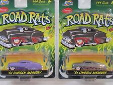 51 Lincoln Mercury Set 1:64 scale Road Rats Jada RARE
