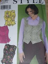 STYLE #2780 - LADIES PRETTY-SEXY WAIST LENGTH SUMMER TOP or VEST PATTERN  6-16uc