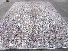 Fine Old Traditional Hand Made Persian Oriental Cream Wool Carpet Rug 423x305cm