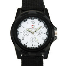 Men's Watch Wristwatch Sport Military Analog Army Quartz Canvas Strap Men Gift