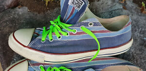 Converse All-Star UNISEX striped Shoes. Size 44 US 10 Size 10 UK.