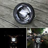 Motorcycle Refit White LED Front Headlight Daytime Running Lamp Hi/Low Beam DRL