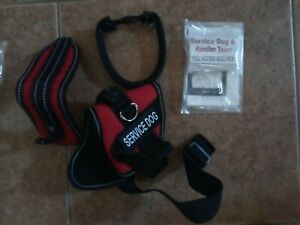 """ActiveDogs Service Dog Kit Mesh Vest Harness ID Girth 22-30"""" Handle Patches NEW*"""