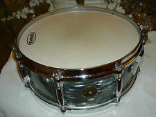 VINTAGE GRETSCH LATE 50s MIDNIGHT BLUE SNARE.......AUTHENTIC .......VERY NICE...
