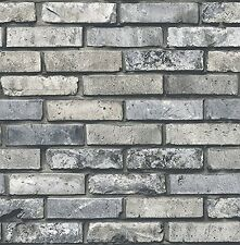 Brick Stone 3D Wallpaper Nature Home Office Wallcovering Grey