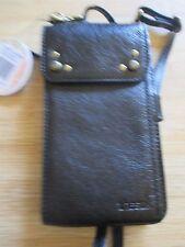 NEW theSAK BAG Handbag Mini Crossbody Phone Wallet Salibel Leather $89 RV Black