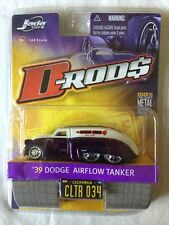 Jada Toys D-Rods '39 1939 Dodge Airflow Tanker Purple Die-Cast 1/64 Scale