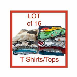 Bulk Lot of 16 Boys T Shirts Top Size 6/7 - 7 Gymboree Old Navy Gap Airwalk Tees
