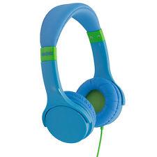 Lil' Kids HEADPHONES Blue Volume Limited MOKI Adjustable headband EXPRESS
