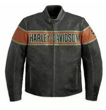 Custom Made Harley davidson Men Victory Lane Distress Leather Jacket