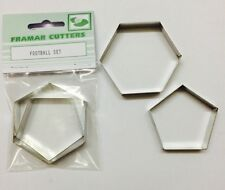 Cake Decorating Metal Football Set by Framar Cutters - 6 Inch