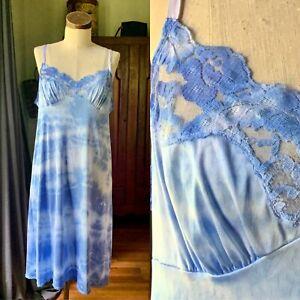 DYED PETALS Vintage Botanically Dyed Tie-Dyed Slip Dress M/L 38