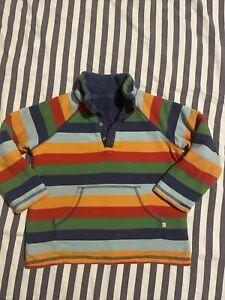 Frugi Striped Snuggle Fleece Age 6-7