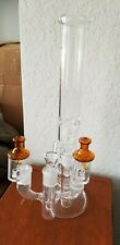 """17"""" Glass Bong Water Pipe Percolators Ice Catcher 3 Prong Adapter Recycler 18mm"""