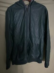 Altamont Faux Leather Jacket Hoodie Zumies Nordstrom XL