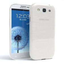 Schutz Hülle für Samsung Galaxy S3 / Neo Brushed Cover Handy Case Weiß
