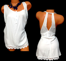 Maurices off white plus size crochet trim sleeveless button cleavage top 3, 3X