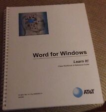 AT&T Software Training - Word For Windows, Class Workbook & Reference Guide