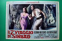 T04 Fotobusta The 7 Viaggio By Sinbad Kerwin Mathews Kathryn Grant Nathan Juran