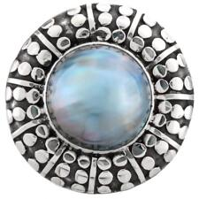 GORGEOUS BLUE MABE 925 STERLING SILVER SZ 6 ring
