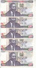 KENYA 100 SHILLINGS 2010 P- 48 LOT X5 UNC NOTES  */*