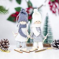 Mini Ski Doll Christmas Tree Hanging Ornament Knit Doll Pendant Home Decoration