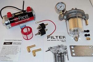 Facet Silver Top Fuel Pump and Malpassi Filter King Regulator Kit (up to 150bhp)