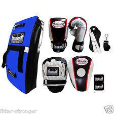 MORGAN Boxing Gloves Focus Mitts PAD Kick Shield Skipping Rope Kit S M L XL new