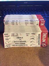 2015 LOS ANGELES ANGELS SEASON TICKET STUB PICK YOUR GAME TROUT PUJOLS CORREA 2