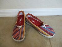 SAS Funk Active Slip On Loafer Color:Lava Stripe For Women Size 7.5