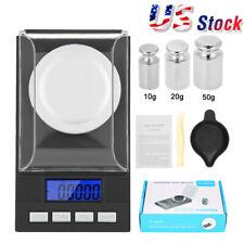 Portable 0.001g Mini Digital Scale Jewelry Pocket Balance Weight Gram LCD Black